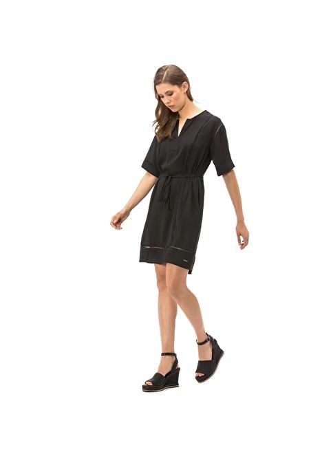 Nautica Belden Bağlamalı Elbise Siyah